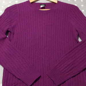 J. Crew cable knit wool sweater size small